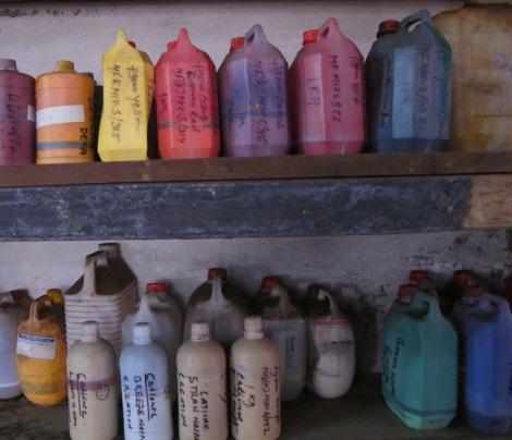 Paints for Shanti leather technique
